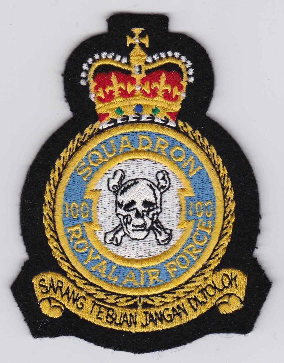 RAF Patch Royal Air Force 100 Squadron Crest Canberra PI